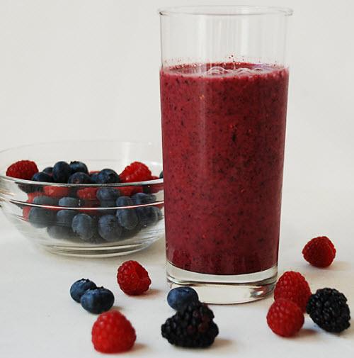 Smoothie din fructe de padure