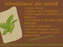 Rucola, elixirul verde