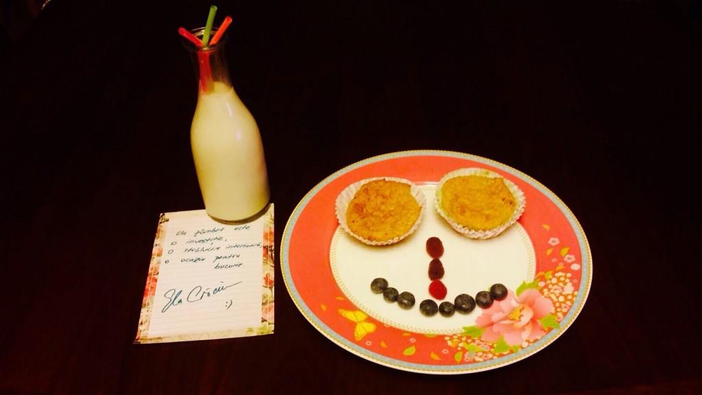 Mic-dejun cu brioșe dietetice