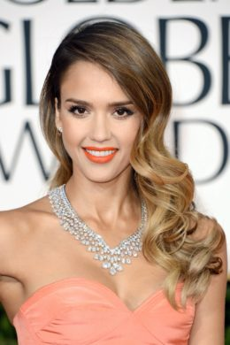 BEVERLY HILLS, CA - JANUARY 13: Actress Jessica Alba arrives at the 70th Annual Golden Globe Awards held at The Beverly Hilton Hotel on January 13, 2013 in Beverly Hills, California. (Photo by Jason Merritt/Getty Images)