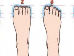 Ce spune despre tine forma piciorului tău?