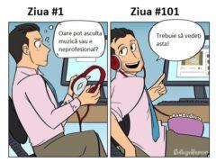 Cum se schimbă comportamentul de la serviciu în timp
