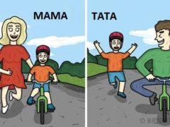 10 ilustrații ce descriu viața unui tată