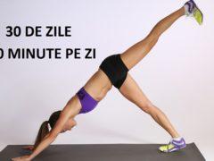 7 exerciții simple care îți vor transforma corpul în 4 săptămâni